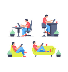 Working at home vector
