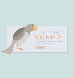 world animal day landing page template exotic vector image