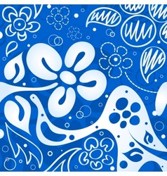 Blue flowers background vector image vector image