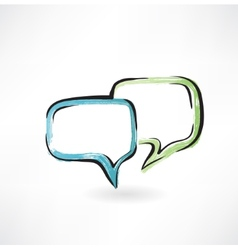 dialogue grunge icon vector image