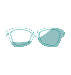 isolated sunglasses cartoon vector image