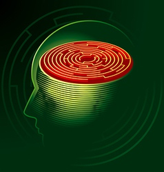 labyrinth mind vector image vector image