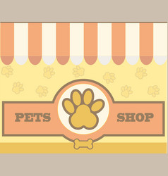 Logo design template for pet care shops vector