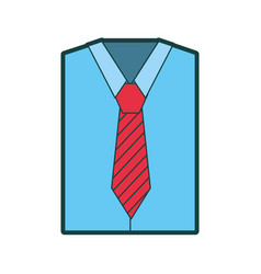 men long-sleeved shirt with tie vector image