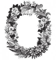 antique flower frame vector image