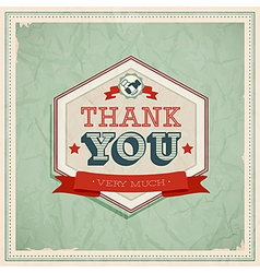 Card Thank You vector image vector image