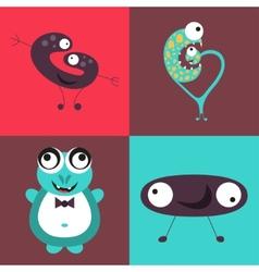 Cartoon cute monsters vector image