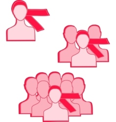 pink ribbon women vector image vector image
