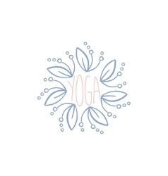Yoga Hand Drawn Label vector image vector image