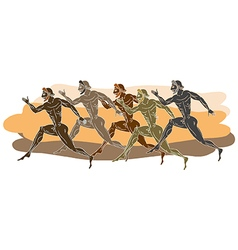Ancient Greek runners vector image