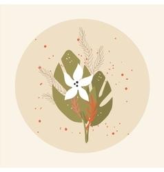 Beautiful flower bouquet Birthday Invitation vector image vector image