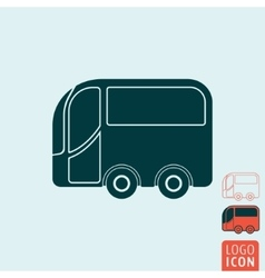 Bus icon isolated vector image vector image