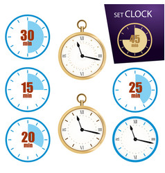 Collection icon of clock vector