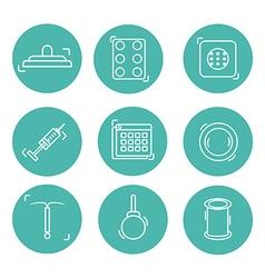 contraception methods line icon vector image