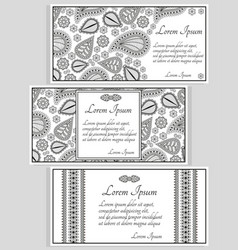 invitation cards or templates vector image vector image