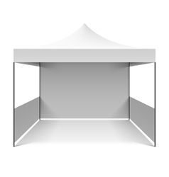 White folding tent vector image vector image