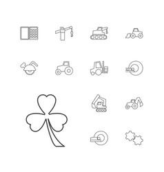13 machine icons vector