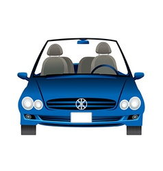 A car is placed vector image