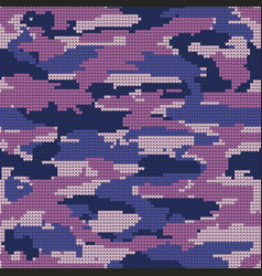 Abstract knitting seamless texture military vector