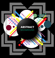abstract of modern geometric in composition vector image