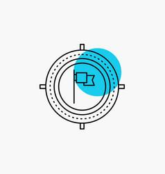 aim business deadline flag focus line icon vector image