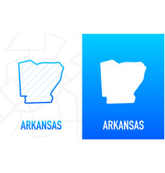 Arkansas - us state contour line in white vector