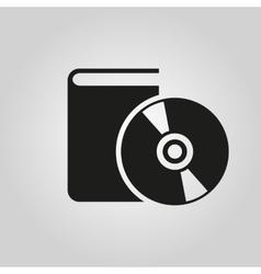 Audiobook icon design Library symbol web vector
