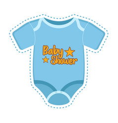 Baby shower label with a shirt vector