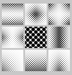 Black and white octagon pattern design set vector