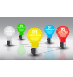 bulb infographi vector image
