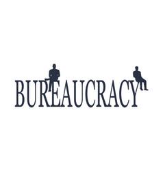 Bureaucracy concept vector