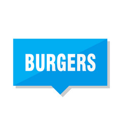 Burgers price tag vector