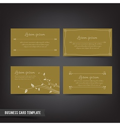 Business Card template set 042 Vintage design vector image