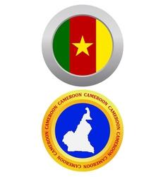 button as a symbol CAMEROON vector image