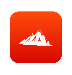 Canadian mountains icon digital red vector