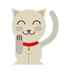 Cat luck culture asian icon vector