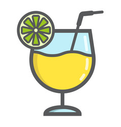cocktail filled outline icon food and drink vector image
