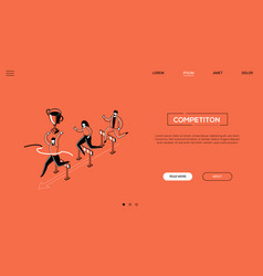 competition - line design style isometric web vector image