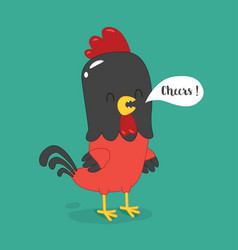Cute cartoon rooster clipart vector
