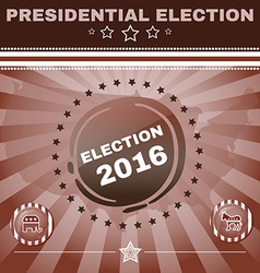Election 2016 Elephant versus Donkey Banner vector