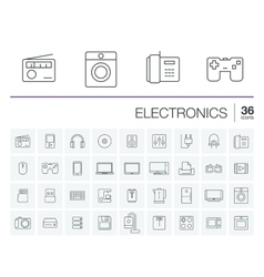 electronics and multimedia icons vector image