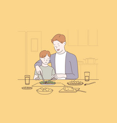 family bonding happy parenting concept vector image