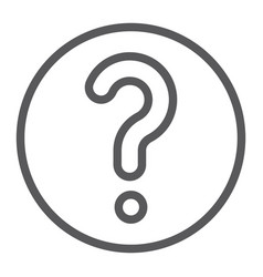 faq line icon question and help ask sign vector image