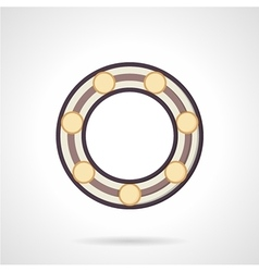 Flat color ball bearing icon vector