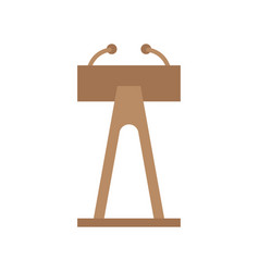 flat design in icon lectern vector image