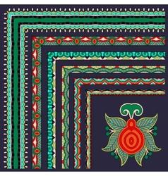 floral vintage frame design set All components are vector image