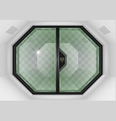 Glass sliding gates vector