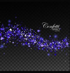 Glittering blue stream of sparkles vector