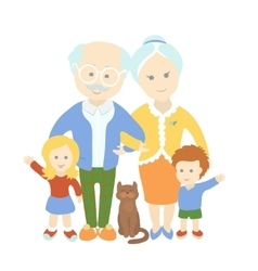Grandparents day Family Happy cute old couple vector