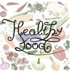 healthy food banner vector image